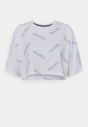 JAMILIA WIDE CROPPED TEE - Print T-shirt - bright white