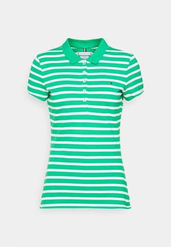SHORT SLEEVE SLIM STRIPE - Polo - classic breton/primary green