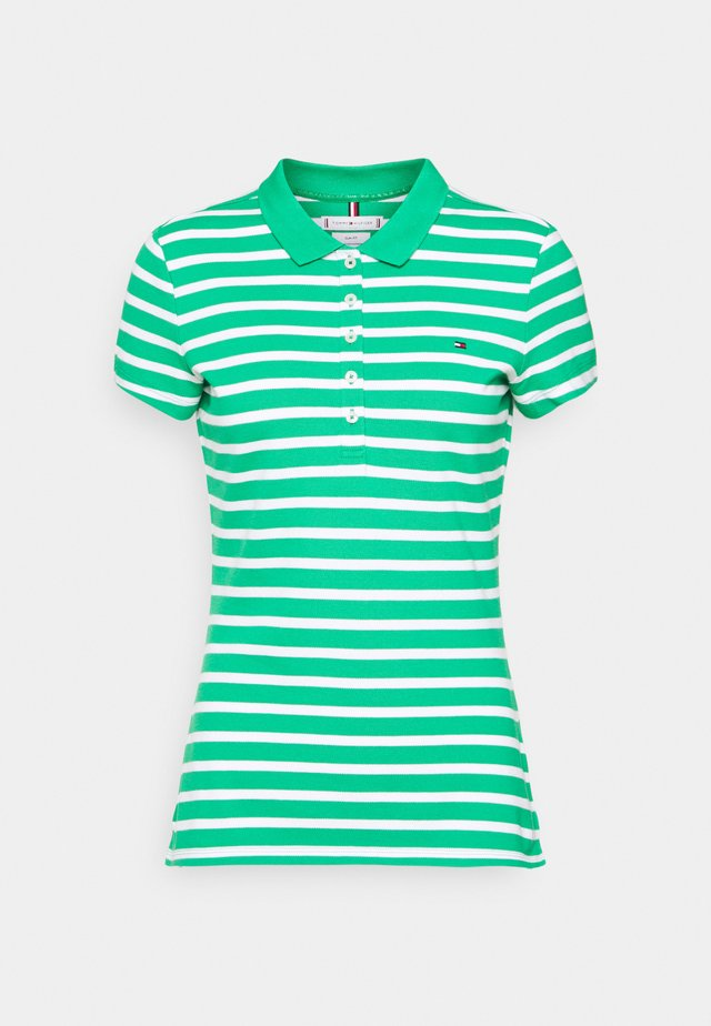 SHORT SLEEVE SLIM STRIPE - Polo shirt - classic breton/primary green