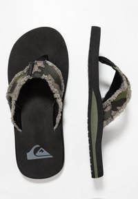 Quiksilver - MONKEY ABYSS - T-bar sandals - green/black/brown - 1