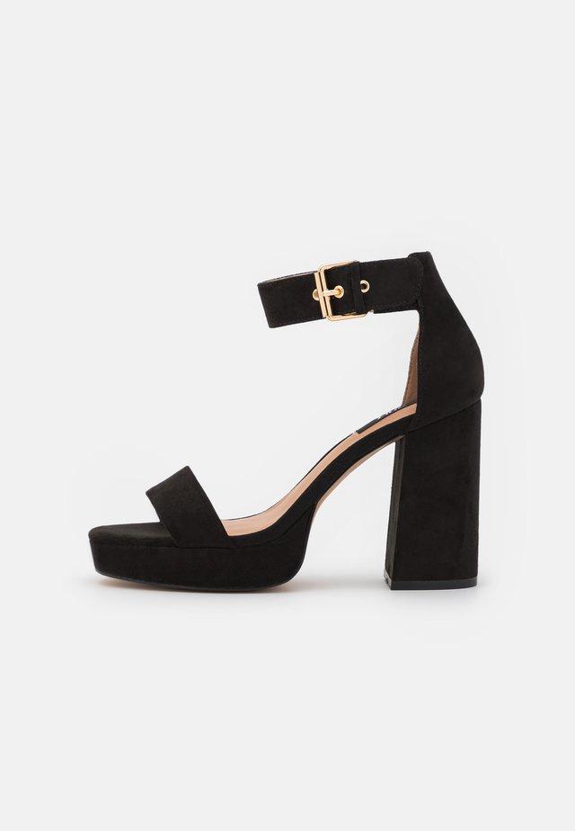 ONLAERIN - Sandalen met hoge hak - black
