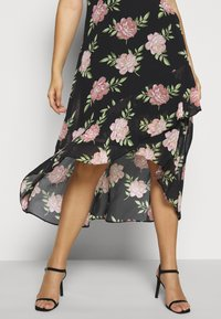 Dorothy Perkins Curve - OCCASIONL SLEEVE HIGH LOW  DRESS FLORAL - Day dress - multi coloured - 3