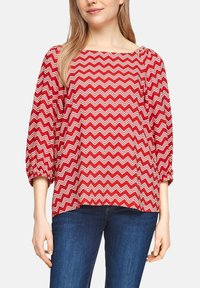 s.Oliver - Blouse - red zic zac stripes - 4