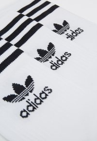 adidas Originals - MID CUT UNISEX 3 PACK - Strumpor - white/black - 1