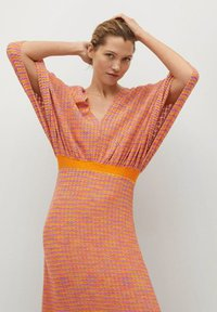 Mango - FAIRY - Strikket kjole - orange - 2