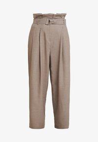 Weekday - PEYTON PAPERBAG TROUSER - Trousers - dark mole - 3