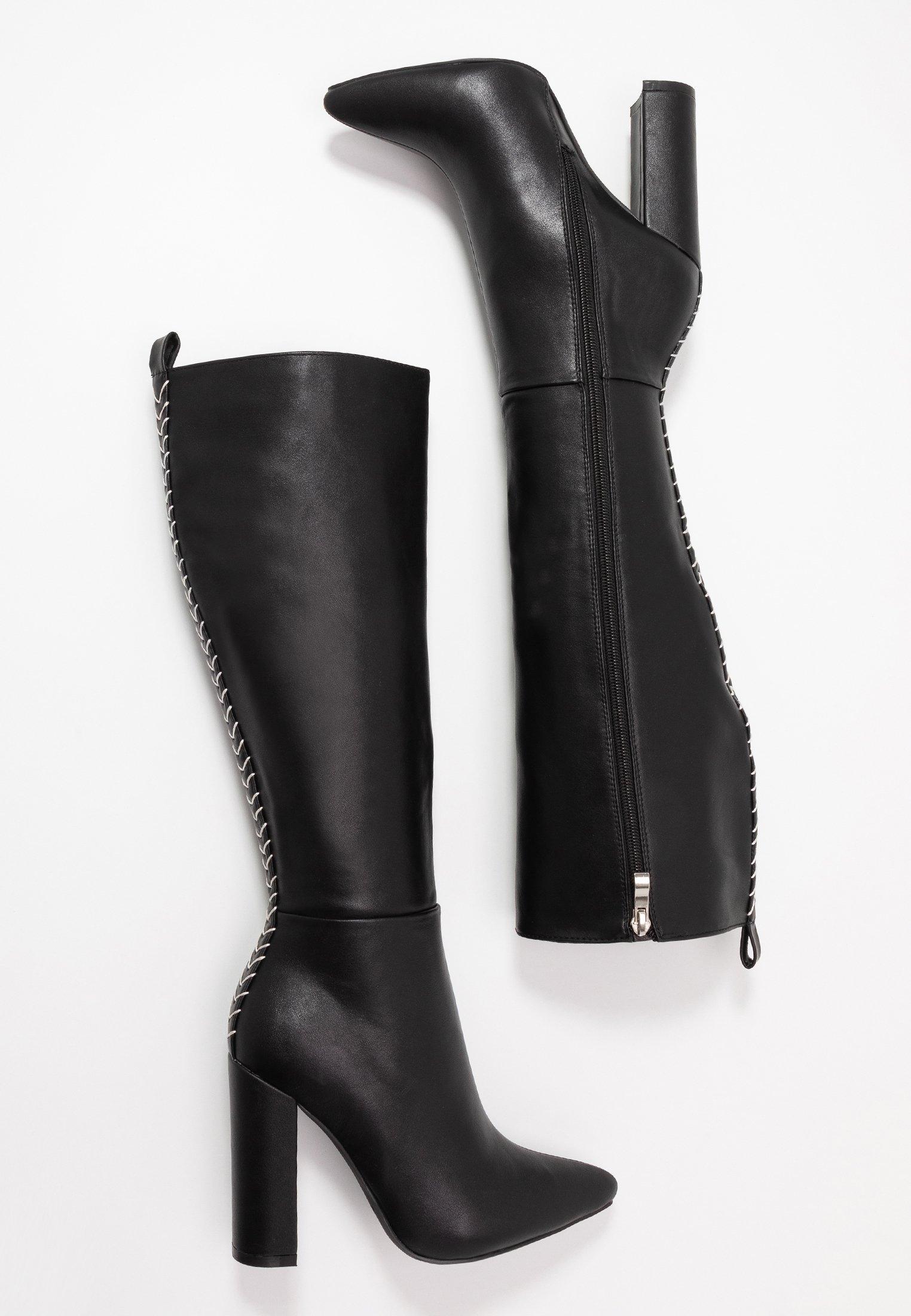 Raid Boots Med Høye Hæler - Black/svart