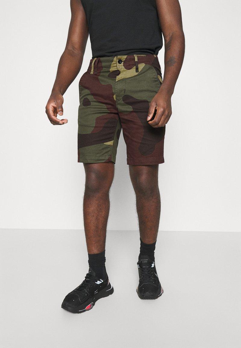 G-Star - VETAR  - Shorts - olive/brown/beige