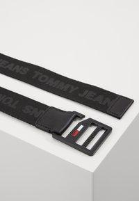 Tommy Jeans - DRING BELT  - Pásek - black - 2
