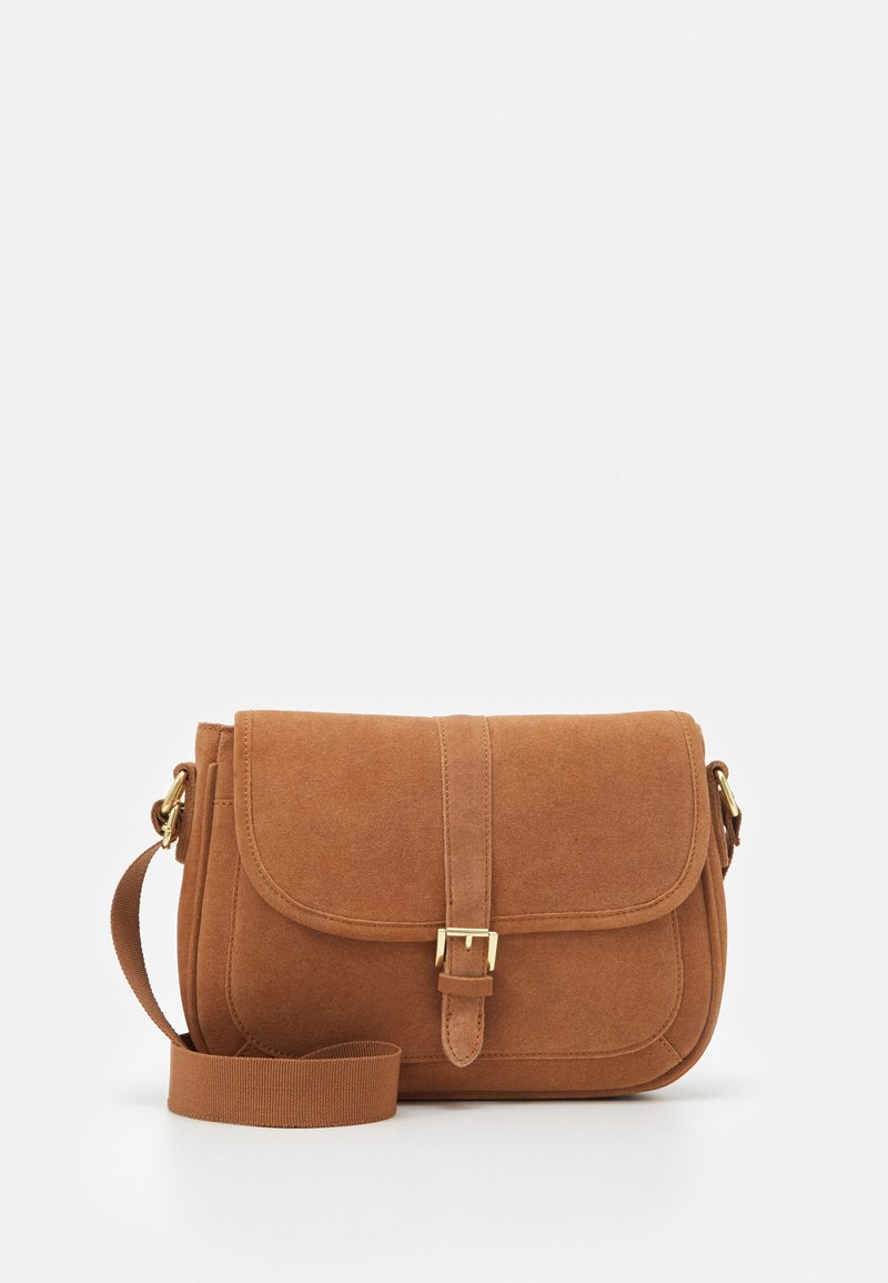Anna Field - LEATHER - Across body bag - cognac