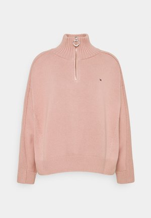 ZIP UP HIGH - Jumper - soothing pink