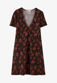 PULL&BEAR - MIT BLUMENPRINT - Day dress - black - 4