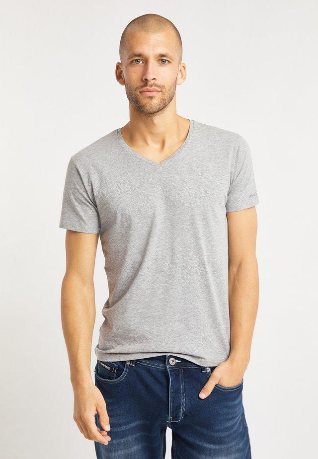 2 PACK - Basic T-shirt - grau melange