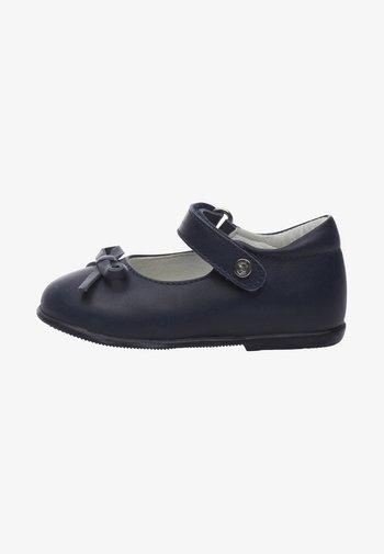NATURINO BALLET - Ankle strap ballet pumps - blue