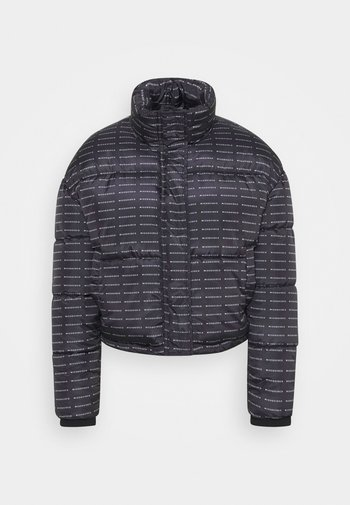 ALL OVER SMALL BRANDED PUFFER - Winter jacket - black