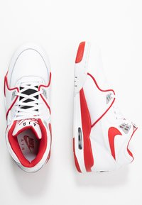 Nike Sportswear - AIR FLIGHT 89 - Korkeavartiset tennarit - white/university red - 1