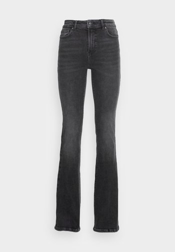 ONLMILA LIFE FLARED - Flared Jeans - black denim