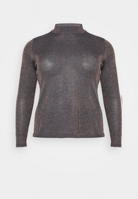 CAPSULE by Simply Be - CYBER FUNNEL NECK JUMPER - Jumper - navy/copper - 4