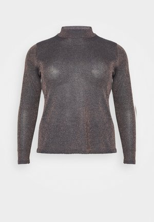 CYBER FUNNEL NECK JUMPER - Strikkegenser - navy/copper