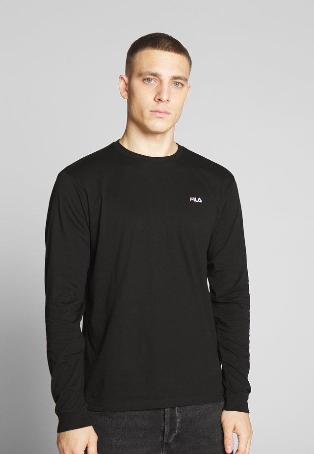 EITAN LONG SLEEVE - Long sleeved top - black