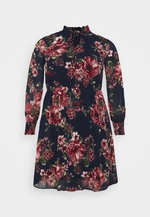 VMNEWSUNILLA SMOCK DRESS  - Day dress - navy blazer/newsunilla