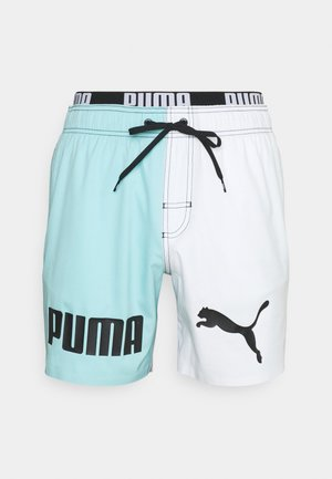 SWIM MEN COLOR BLOCK - Swimming shorts - black