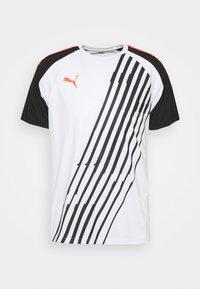 Puma - INDIVIDUALPACER - T-shirts print - white/red blast/black - 0