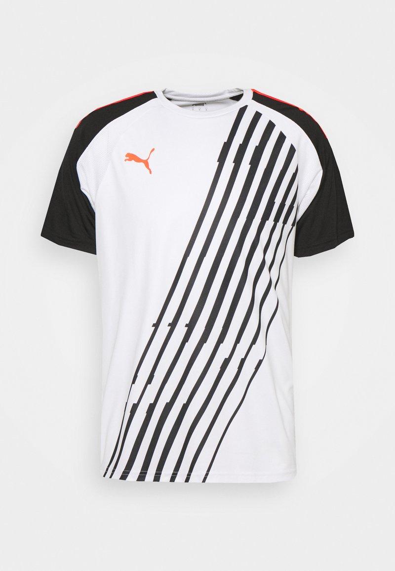 Puma - INDIVIDUALPACER - T-shirts print - white/red blast/black