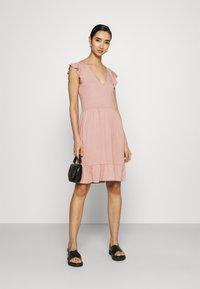 JDY - JDYDITTE V NECK DRESS - Jersey dress - rose - 1