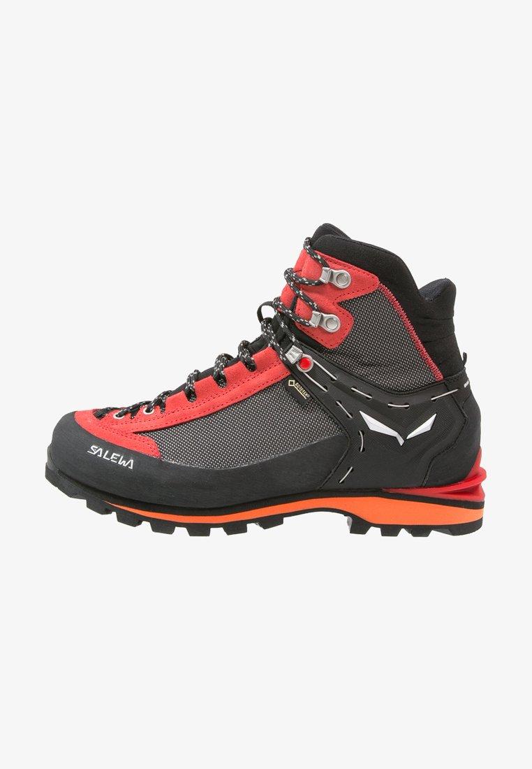 Salewa - MS CROW GTX - Mountain shoes - black/papavero