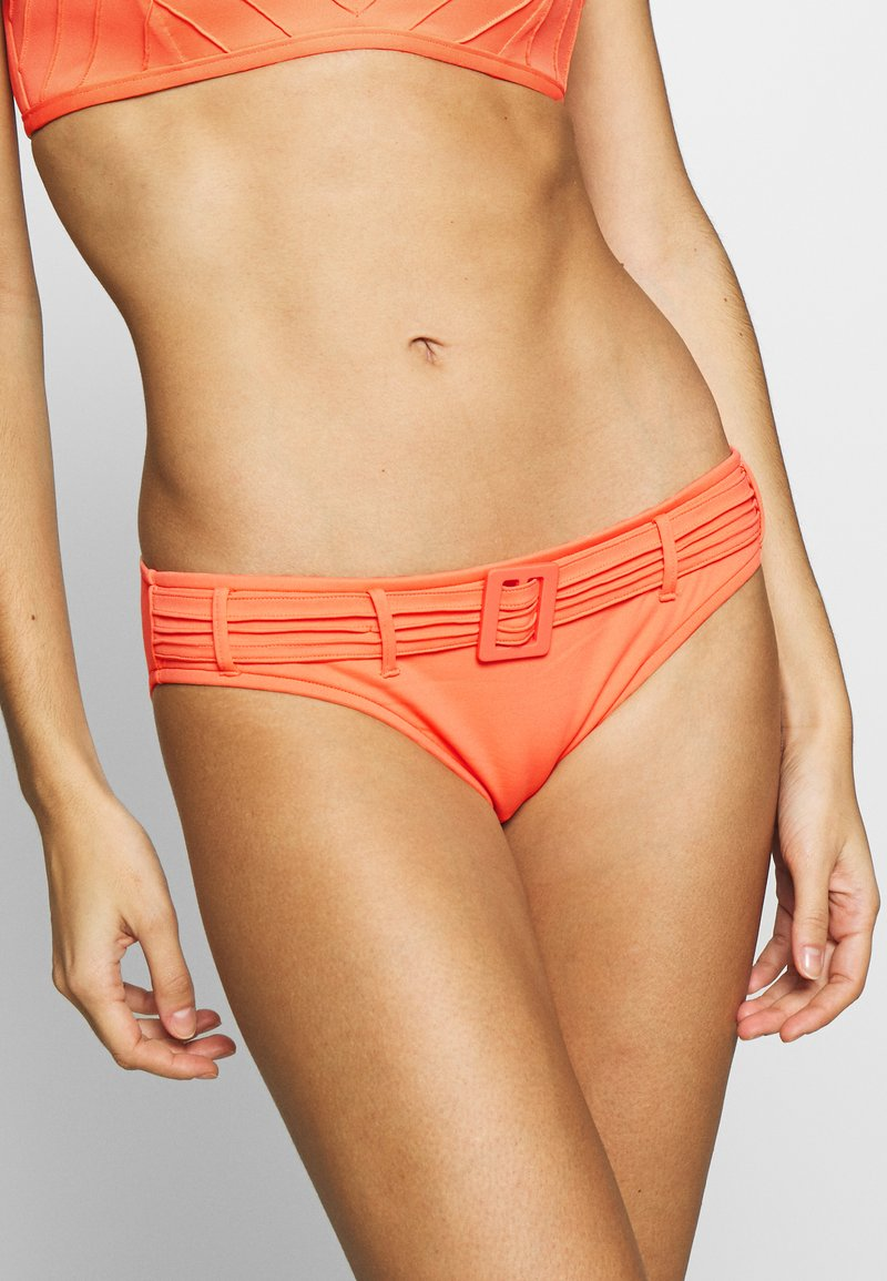 Seafolly - HIPSTER WITH PINTUCKED BELT - Bikini bottoms - melon