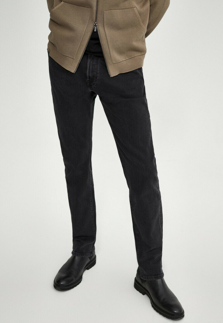Massimo Dutti - Jean slim - black