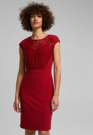 Shift dress - dark red