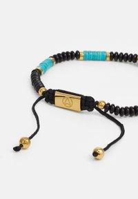 Northskull - SKULL MACRAMÉ BRACELET UNISEX - Bransoletka - black/turquoise/gold-coloured - 2