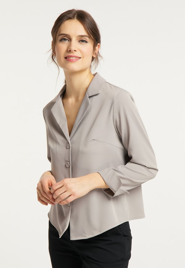 usha BLUSE - Koszula - grau/szary EGLK