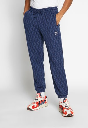 TREFOIL MONOGRAM GRAPHIC SPORT PANTS - Tracksuit bottoms - marin/white