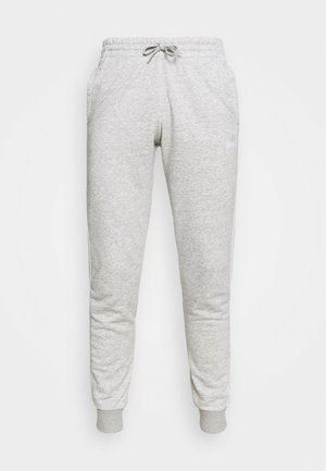 ESSENTIALS FRENCH TERRY STRIPES PANTS - Teplákové kalhoty - medium grey heather/white
