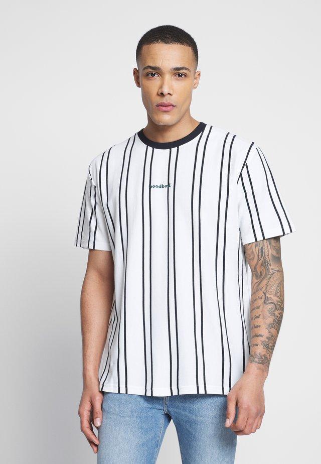 CRAZ SOCCER TEE - T-shirt imprimé - white