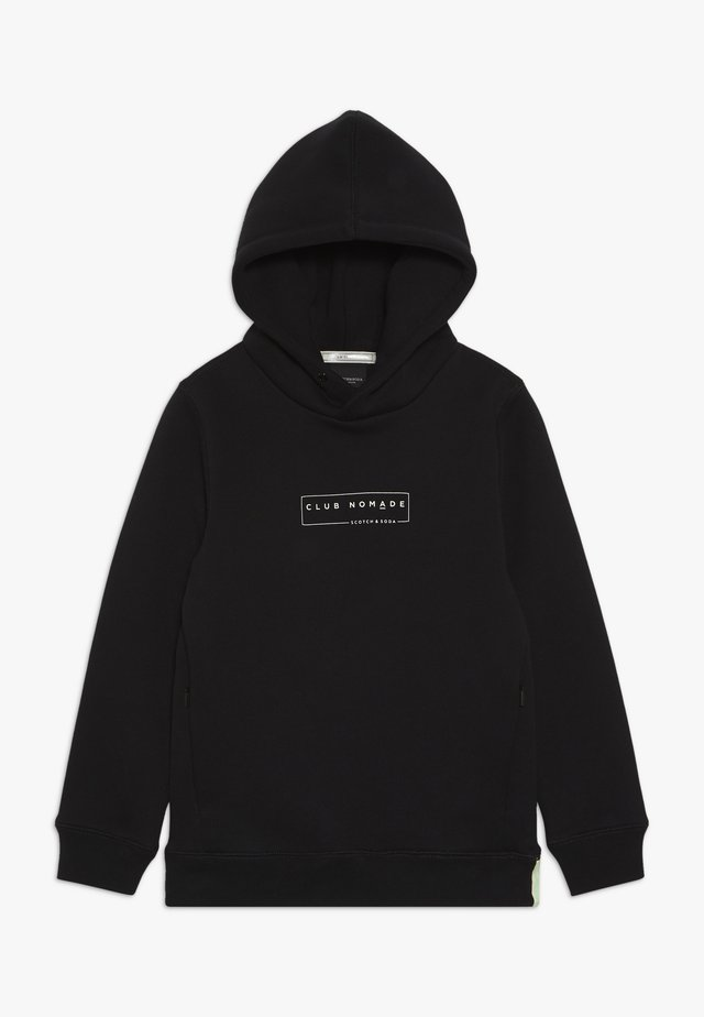 CLUB NOMADE HOODY WITH ZIP POCKETS AND ARTWORKS - Jersey con capucha - black