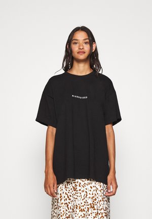 TIGER BACK PRINT GRAPHIC TEE - Print T-shirt - black
