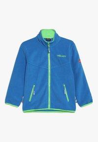 TrollKids - KIDS BRYGGEN JACKET UNISEX 2-IN-1 - Hardshell jacket - medium blue/bright green - 2