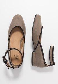 NAE Vegan Shoes - LEEN - Ballerinat nilkkaremmillä - grey - 1