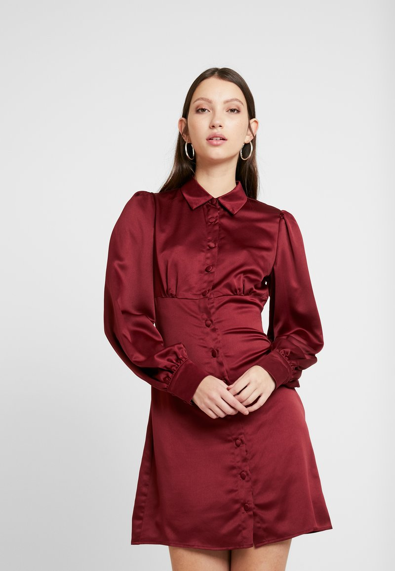 Fashion Union - LORD - Shirt dress - burgundy