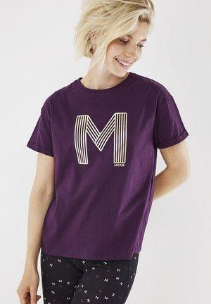 T-shirt print - dark purple