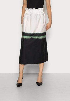 EZADINE - PULL ON SKIRT - A-line skirt - black ombre
