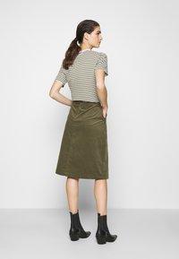 Saint Tropez - SKIRT - Áčková sukně - army green - 2