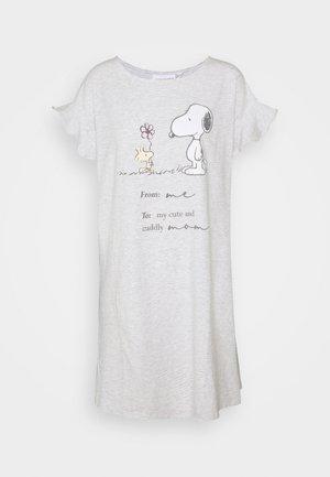 SHORT NIGHTDRESS - Nattskjorte - light melange