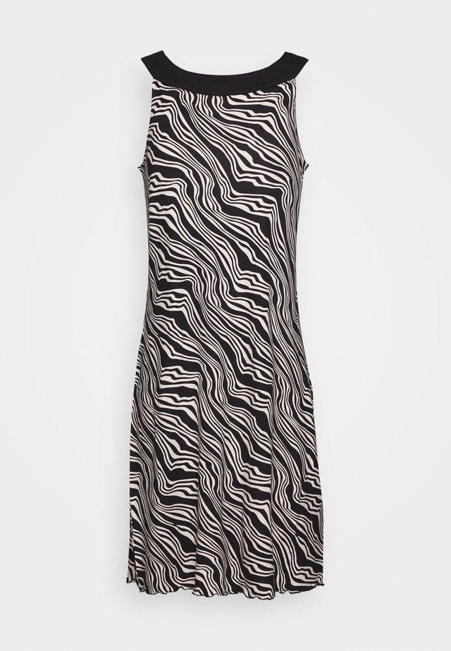 DRESS AMERICAN NECK - Žerzejové šaty - black
