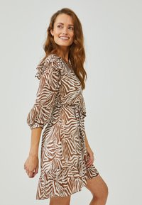 Aaiko - VALENTHE - Day dress - root brown dessin - 2