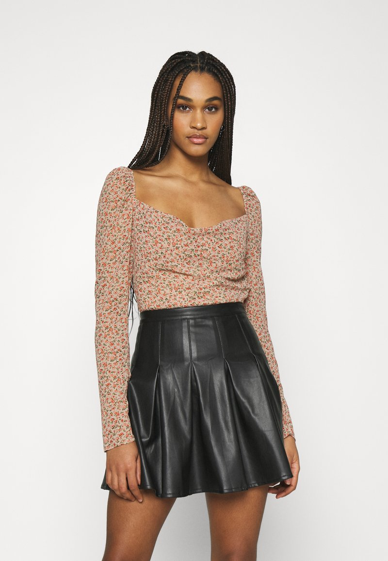 Missguided - DITSY MILKMAID SLIT CUFF - Blouse - multi